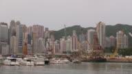 HongKong Skyline and victoria habour video