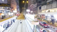 Hongkong street night driving video