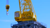 Hook on Heavy Shipping Port Crane, Cargo Industry Freight Industry video