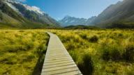 Hooker Valley Track at Mt Cook National Park (National Park) video