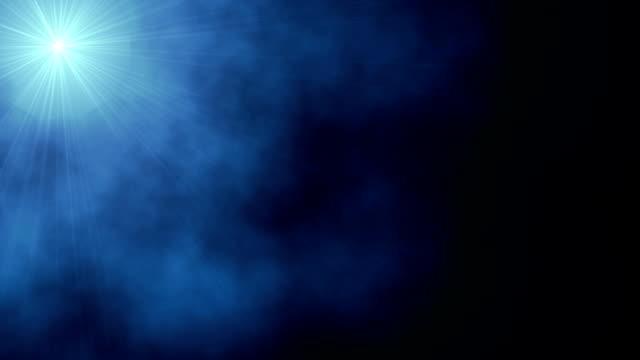 Hope Star in mystical smoke, HD video