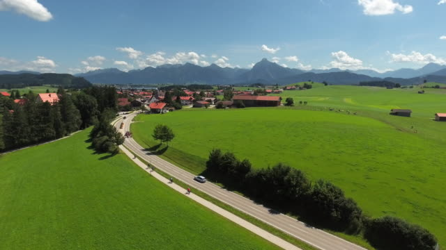 Hopferau Village In East Allgau In Bavaria video