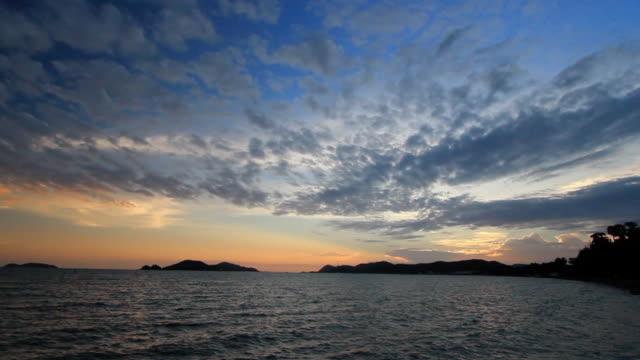 Horizon Over Water - Sunset video