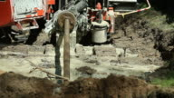 Horizontal Drilling Rig Pulling Water Main video