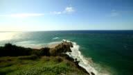 Horizontal shot of Cape Byron, Australia video