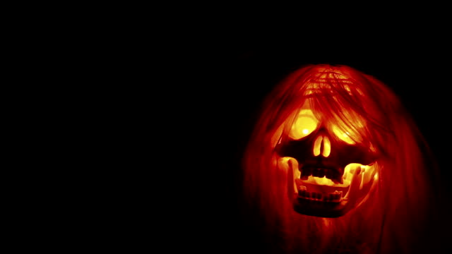 Horror scary skull video