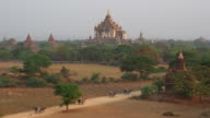 Horse Drawn Carriages and Ancient Temples in Bagan, Myanmar (Burma) video