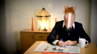 Horse head mask. video