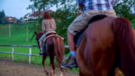 Horseback riding on the ranch video