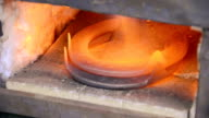 horseshoe in a forge video