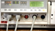 Hospital cardiac monitor video