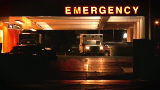 Hospital, emergency room. Ambulance. video