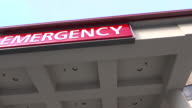 Hospital Emergency Room Sign video