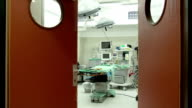 Hospital. Medicine. Operating room before the operation. Sterile surgical instruments video