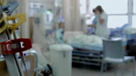 Hospital. Patient waiting for dialysis procedure video