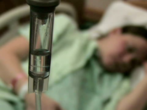 Hospital Patient with IV 2 video