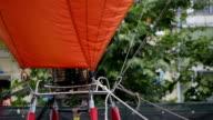 Hot air balloon burner starting video