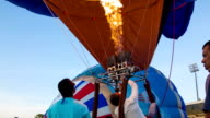 hot air balloon burner video