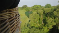 Hot Air Balloon Flying Over Trakai Forest video