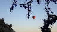 hot air balloon in the air in Cappadocia video