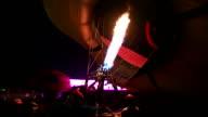 Hot Air balloons at night video