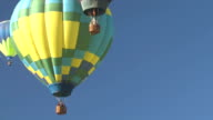 Hot Air Balloons Floating Above video