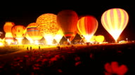 Hot air balloons. video