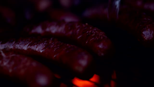 Hot Barbecue Sausage - Stock Footage video