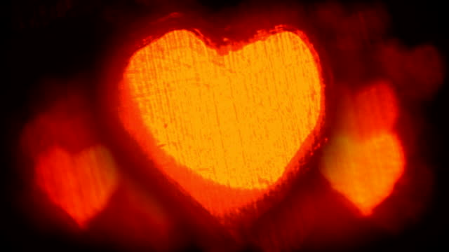 Hot beating hearts background video