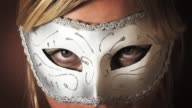 hot blond girl in mask HD video