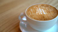 hot caramel macchiato in cafe video