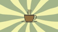 Hot Coffee Consumption Animation, High Definition video