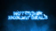 Hot Cyber Monday Deals Text on Fire video