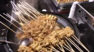 Hot oden stick with soup , Myeongdong street food , Seoul , South Korea. video