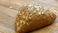 Hot rye bread with sunflower seeds and black sesame video