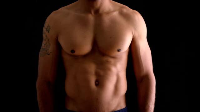 Hot shirtless black man video
