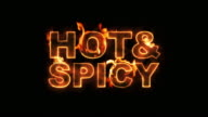 Hot & Spicy Text on Fire video