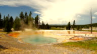 Hot Spring Firehole Lake Drive Yellowstone National Park video
