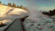 Hot Spring Geyser and Boardwalk video