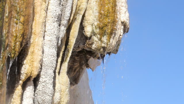 hot springs against blue sky video