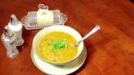 Hot Steam bowl of Pumpkin Soup video