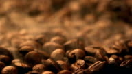 Hot Steaming Fresh Roasted Coffee Beans video