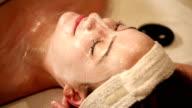 Hot Stone Massage Facial Rub Close Up video