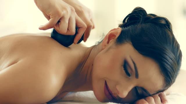 Hot stone massage video