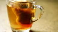 Hot tea cup video