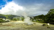 Hot thermal springs in Furnas village, Sao Miguel island, Azores, Portugal video