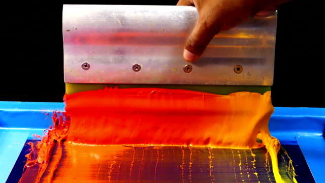 hot tone of colour for print tee shirt. video