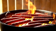 Hotdogs on a Charcoal BBQ video