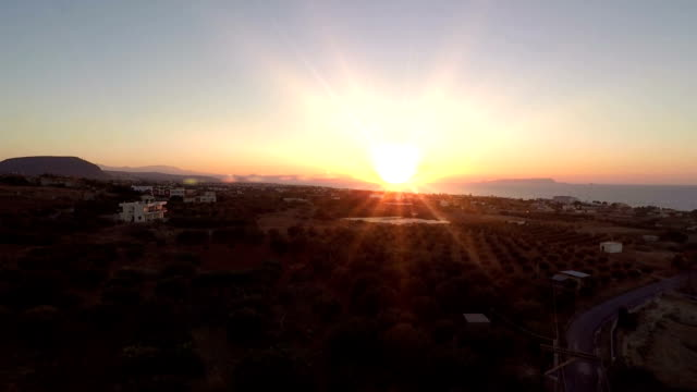 hotel church cross bright sunset video