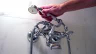 Hotel shower slowmotion video